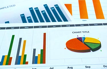 Financial charts generated by RTA Accounting